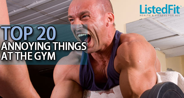 Top 20 most annoying things at the gym graphic by ListedFit