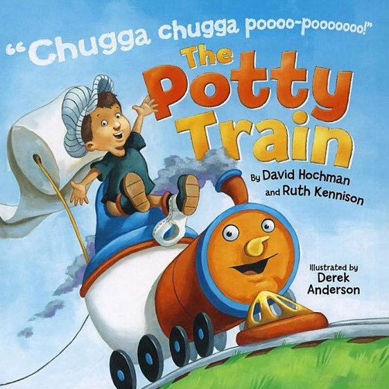 The Potty Train book cover chugga chugga poo pooo