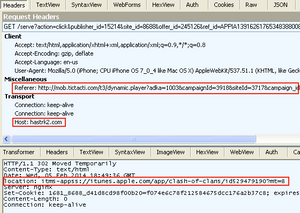 Screenshot 1 of what happens when a website malvertising redirects you to the AppStore