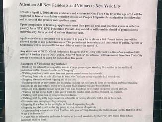 NYC's 'Department of Pedestrian Etiquette (DoPE)' Targets Rude Pedestrians