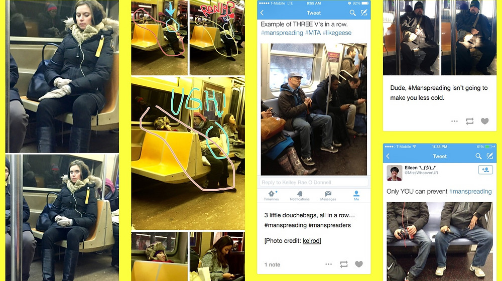 Douches on Trains example post of people being rude on subways 1