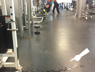 Man Spills Water in Gym, Leaves Mess