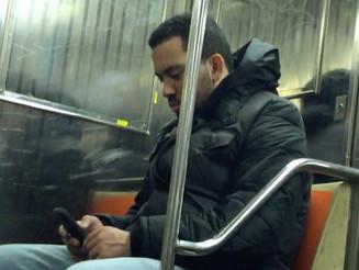 Rude Dude Blaring News on the Train