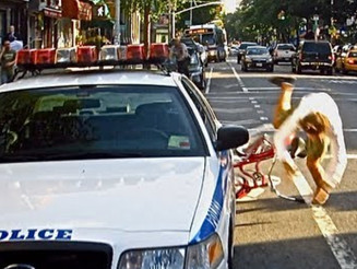 NYC Bike Lane Becomes a Literal CRASH Course!