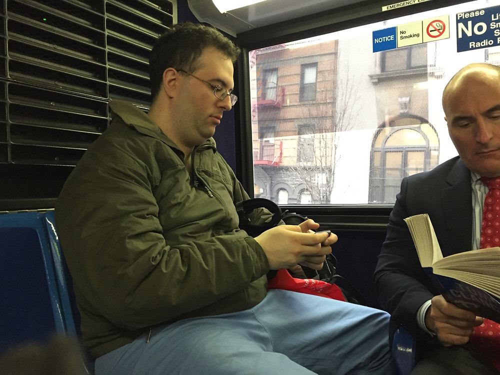 A Man womanspreading at the back of the bus, hogging 2 seats #1