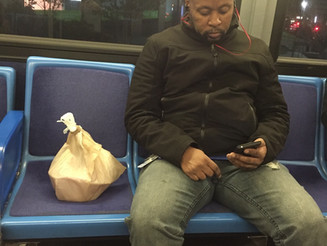 A Manspreading Picnic on the Bus