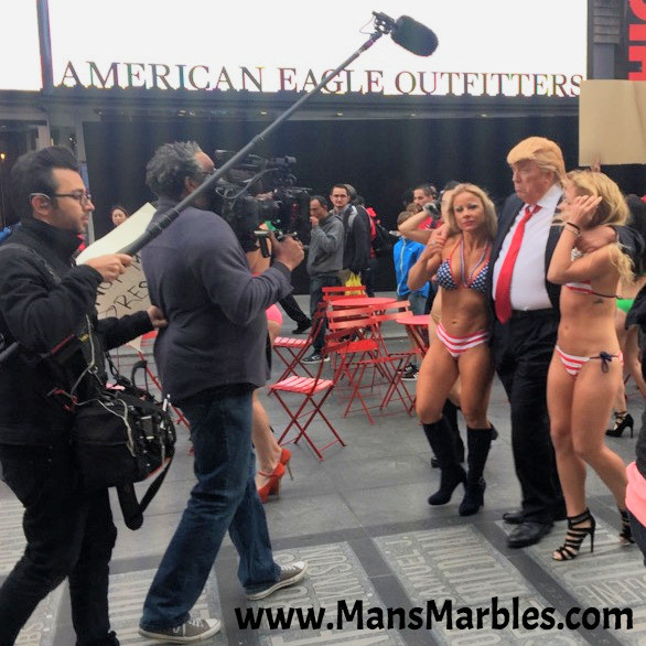 Donald Trump grabbing snatch pussy in Times Square