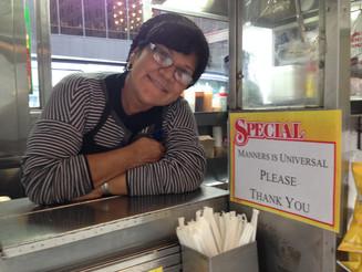 Sandra's Food Spot Attempts to Correct New York's Rudeness Problem.