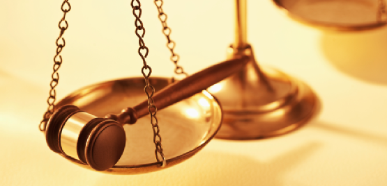 gavel on the scales of justice