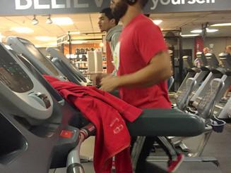 Fit Freak Using Treadmill as a Locker