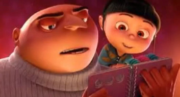Gru reads 'sleepy kittens' to agnes in Indespicable Me