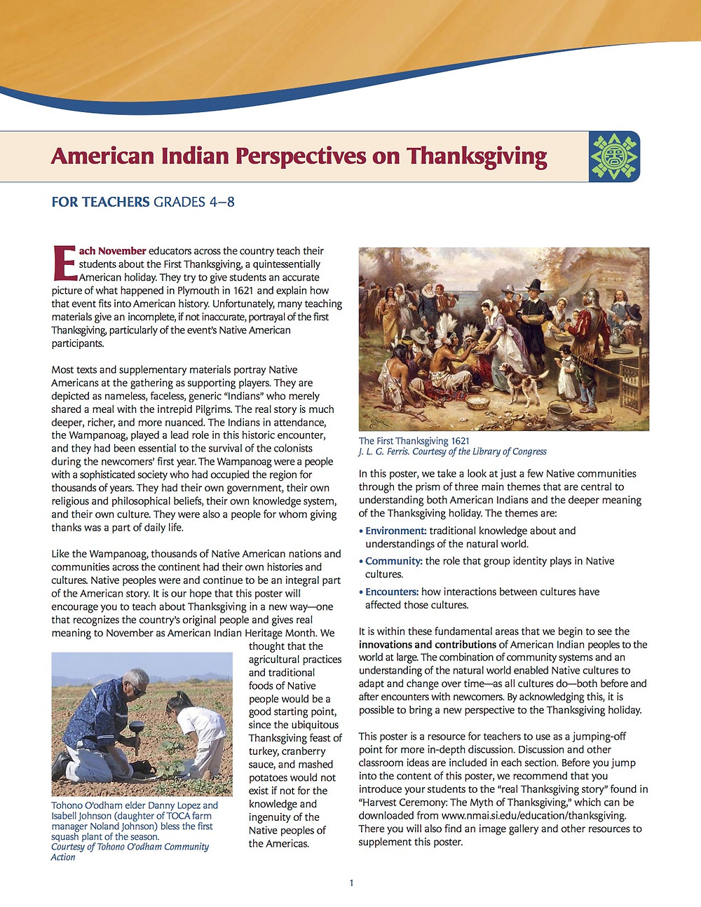 American Indian Perspectives on Thanksgiving poster page 2