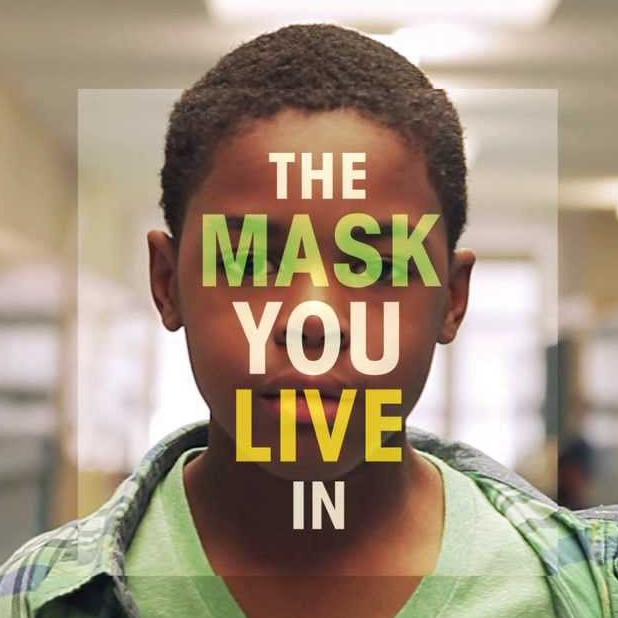 The mask you live in logo