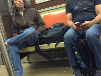A Jaw Dropping Manspread