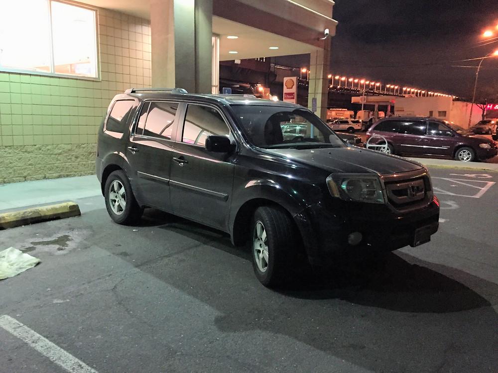 Driver arrogantly pakrs car in 2 parking spots #3