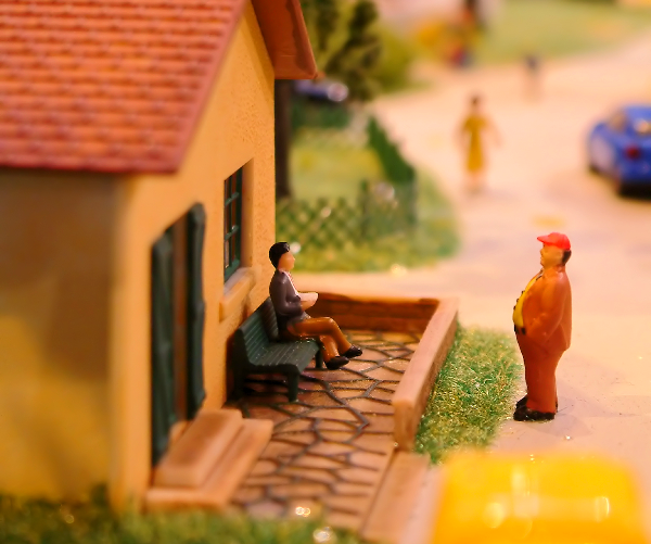 Claymation art of someone being neighborly