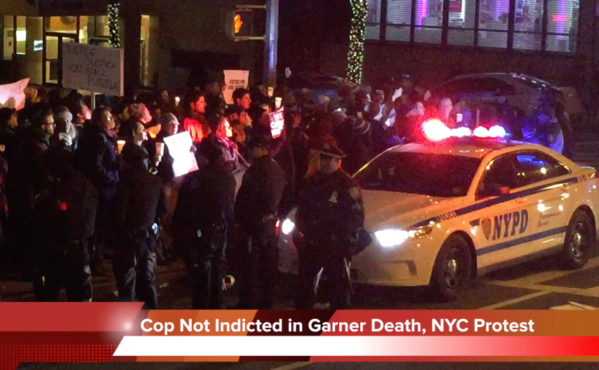 NYPD Officer not indicted, Eric Garner death protest in NYC, 96th Street and Broadway