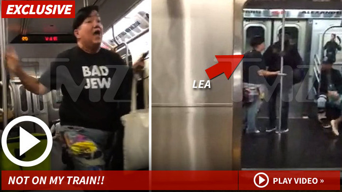 'Orange Is the New Black' Star Lea DeLaria Shouts Down Subway Preacher You Don't Own the Bible (VIDEO)