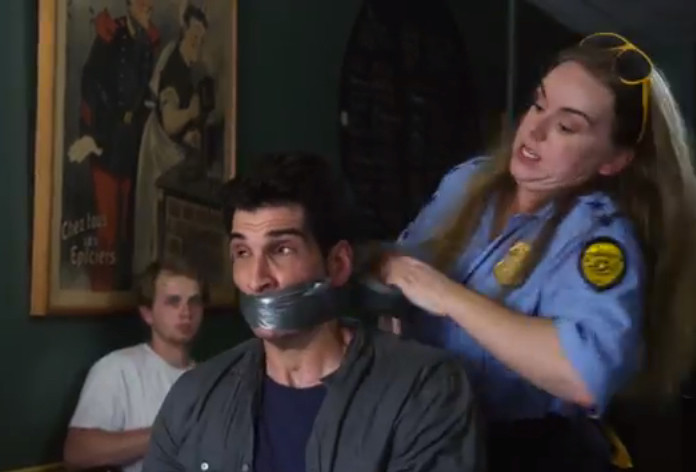 Fitz of the common sense police duct taping loud talking offenders mouth