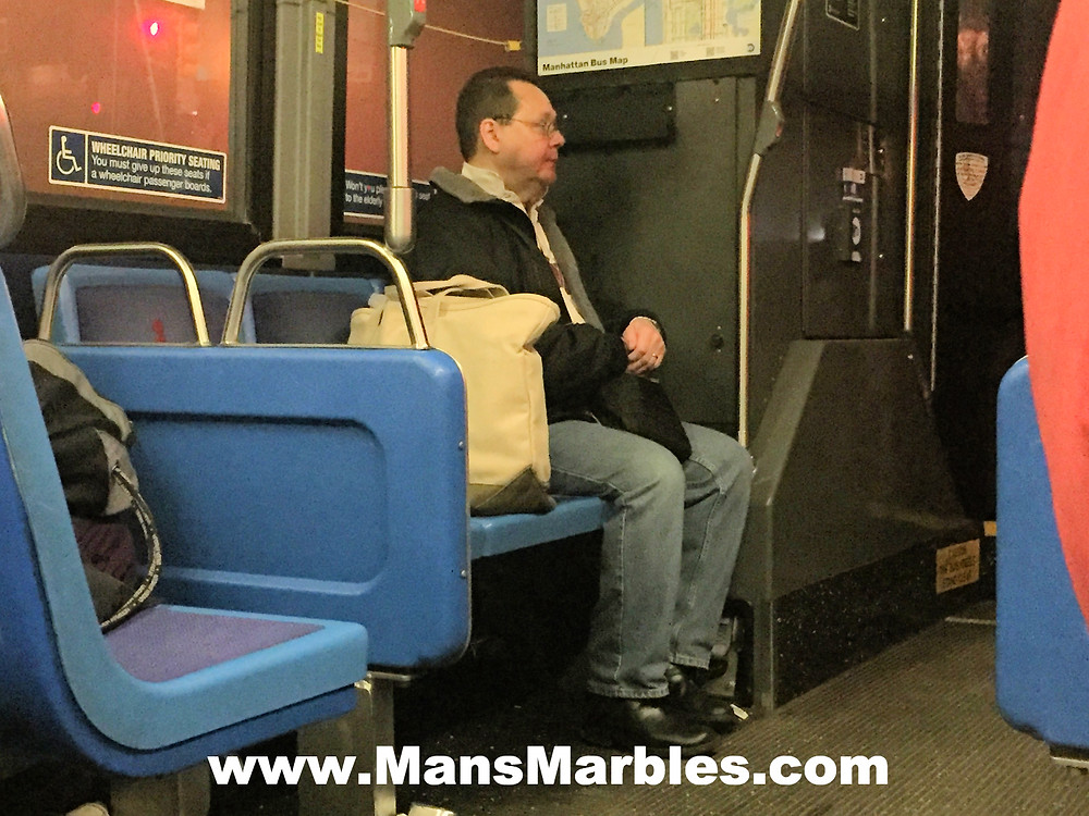 Womanspreading man hogs bus's priority seats #2