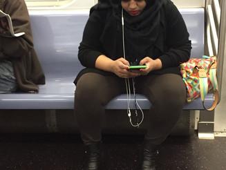 Muslim Woman Now an Americanized Manspreader