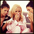 three women crying with tissues, Women Etiquette Poll Category