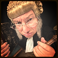 Victorian Judge with book and gavel, Law Etiquette Poll Category