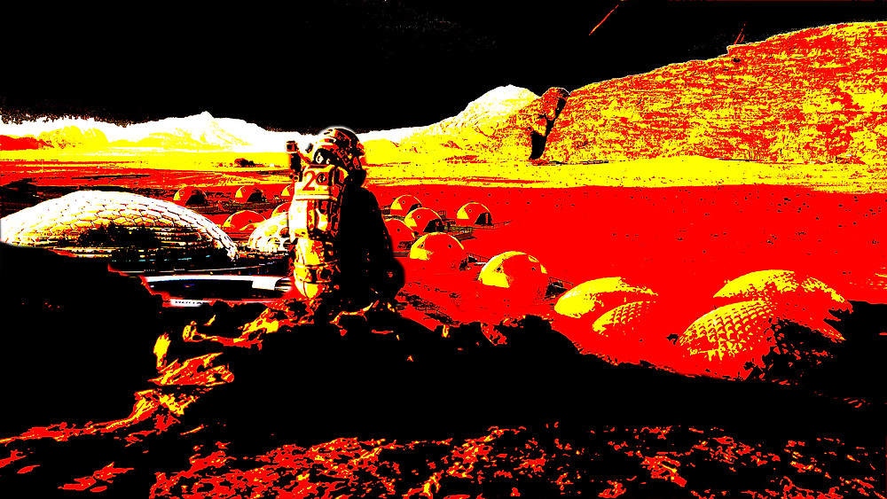 Mycelium Martian Dome