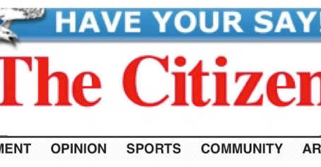 March article in the Citizen: Spring and Anxiety