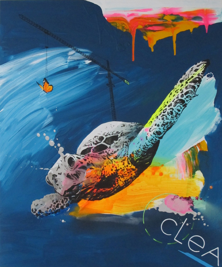 Flying seaturtle
