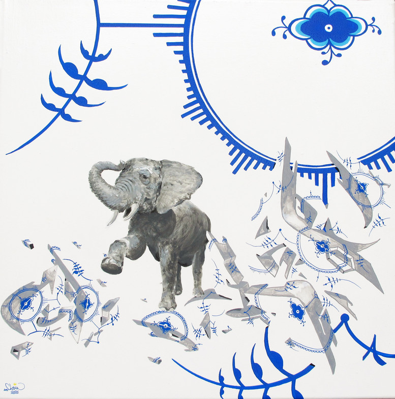 Like an elephant in a procelainshop
