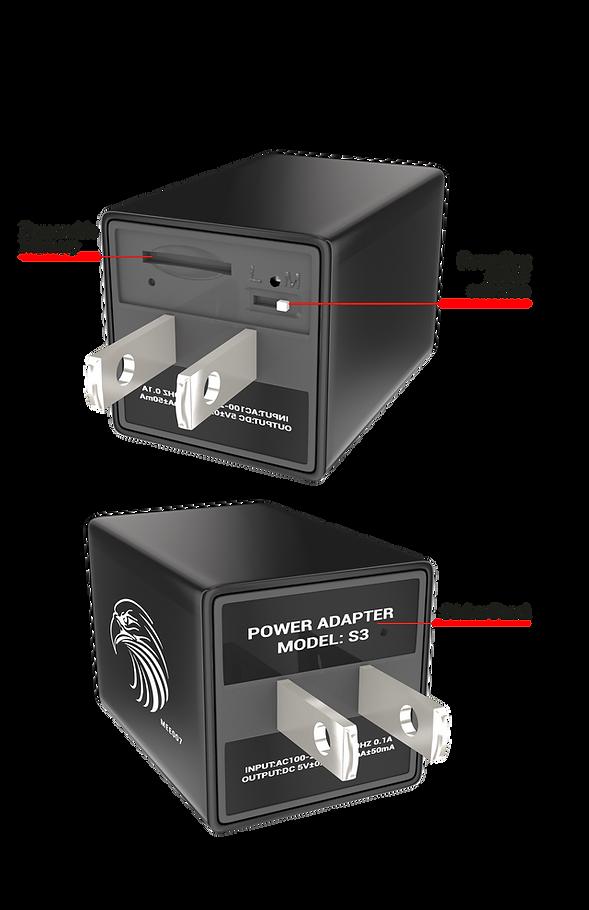 usb charging port camera