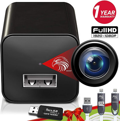 Spy Camera Charger | Hidden Camera | Premium Pack | Mini Spy Camera 1080p | USB
