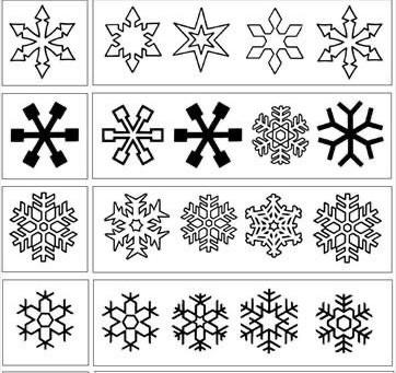 Duyu Bütünleme ile Kar taneleri Eileştirme Kalıpları/ aynı olanı bul çalışma kağıdı