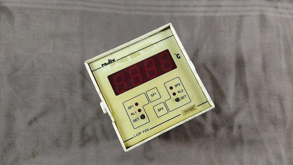 RADIX LCP 722 TEMPERATURE CONTROLLER PT100 230 VAC