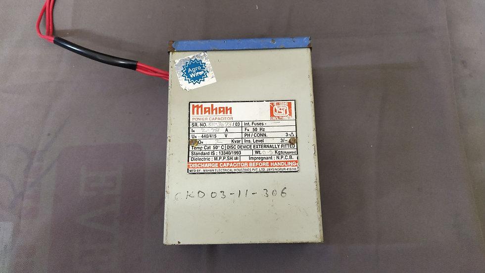 MAHAN POWER CAPACITOR 2.78A 440-415 VAC SH-3673-03