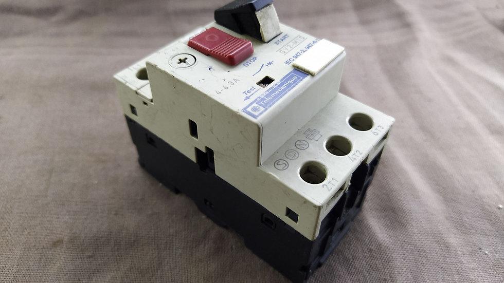 TELEMECANIQUE GV2-M10 STARTER REPLACEMENT GV2M10 4-6.3 AMP