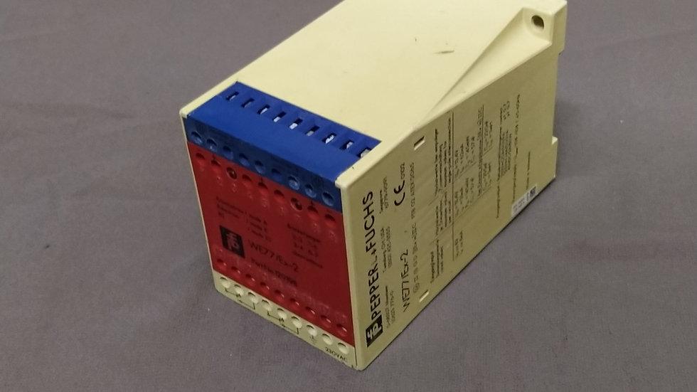 PEPPERL + FUCHS WE77/EX-2 SWITCH AMPLIFIER 129198 230 VAC