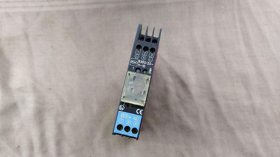STAHL 9350/20-11-10 ICS PAK SWITCHING REPEATER MODULE 24VDC