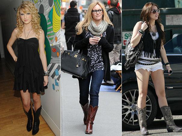 4156f04f92 Várias celebridades adquiriram a bota texana em seu guarda-roupas