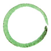 Green Painted Wreath