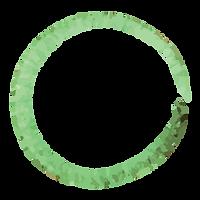 Couronne verte peinte