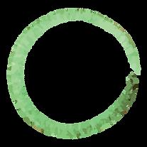 緑は花輪を塗装しました