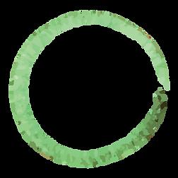 Grön målade Krans