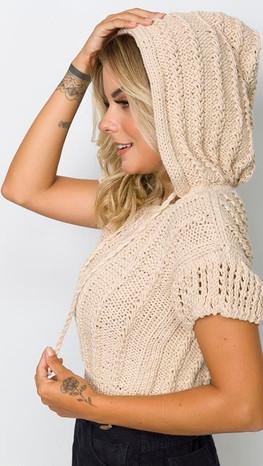 Hooded Crop Top