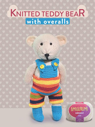 Knitted Teddy Bear with overalls