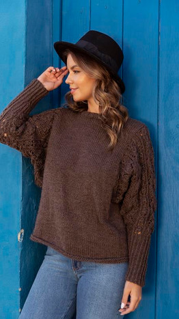 Laced Sleeve Pullover