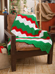 Chevron Crochet Throw for Christmas