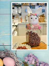 Lovable Cookie Jar Bunny