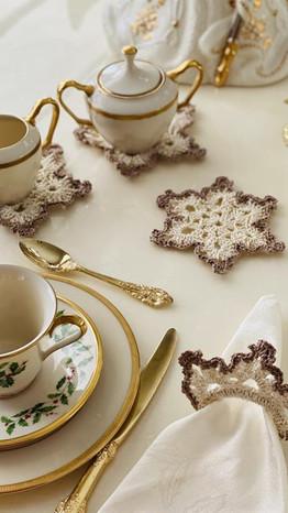 Snowflake Coasters and Napkin Rings